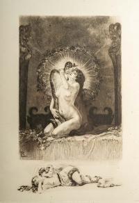 Suite de 5 gravures par Lobel Riche