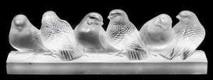 """René Lalique Motif décoratif """" Six Moineaux """""""