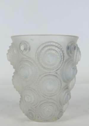"""René Lalique  paire de vases """"spirales """"opalescent"""