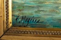 Huile sur toile vue de Venise par Robert MOGISSE