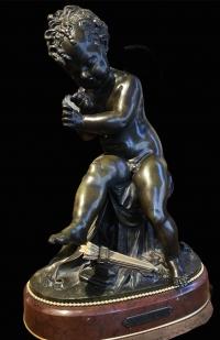 Sculpture Enfant à l'arc de LEMIRE