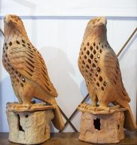 Sculptures Aigles Royaux, école française du 19e siècle