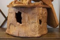 Paire d' aigle royal sculpté en céramique , année 50