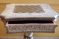 Table à jeux anglaise en bois peint de style Regency