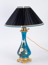 Paire de lampes en porcelaine et laiton 19e siècle Napoléon III
