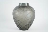 """René lalique Vase """"Archers"""" Teinté Topaze"""