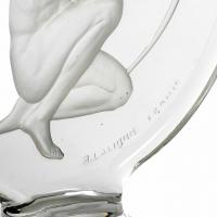 """Mascotte Bouchon de Radiateur """"Archer"""" verre blanc de René LALIQUE"""