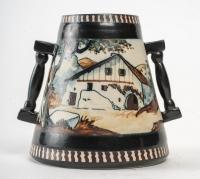 Vase en Céramique , signé Berné , XXème siècle