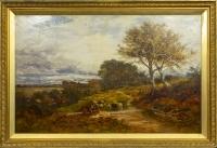 Benjamin Williams Leader (1831-1923). Paysage d'Automne.
