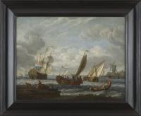 Estuaire hollandais – Attribué à Abraham Storck (1644 – 1708)