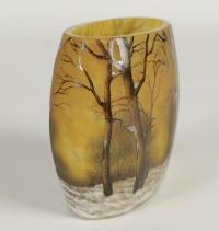Daum Vase Paysage de neige en hiver