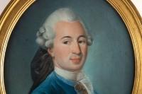 """""""Portrait d'Un Gentilhomme"""" XVIIIème Pastel"""