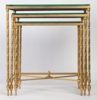 Trois tables gigognes (1950-1970), attri. à Maison Baguès