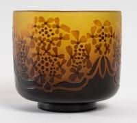 D'Argental, Vase Aux Fleurs Stylisées