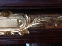 Cheminée en acajou et bronze doré. Réf: 340