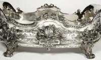 Goldsmith TETARD: Planter in solid silver, Napoléon III period