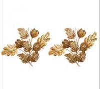 Grande paire d'appliques florales 1960
