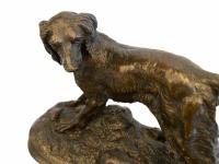 Chien au lapin par Jules Moigniez (1835-1894)