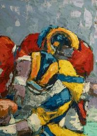 Peinture de Football Américain, XXème siècle