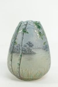 Daum Vase Paysage Lacustre