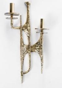 Paire d'Appliques en bronze Felix Agostini