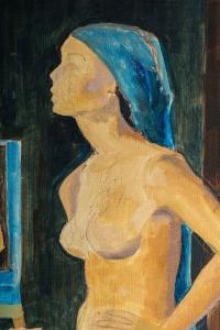 Femme posant pour un portrait,XXème siècle