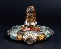 Lampe à huile  émaillée Lobmeyer 1880