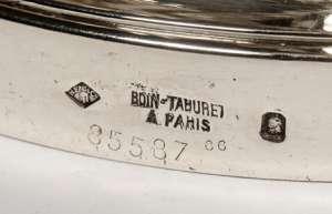 Orfèvre: BOIN-TABURET - Paire de bouts de table en argent.
