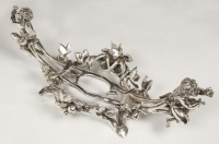 Jardinière en bronze argenté et cristal par C. CHRISTOFLE