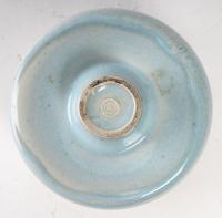 Karl Scheid - Vase en grès à glaçure bleu de fer. Daté 73