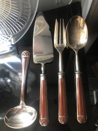 "Christofle ""Talisman"" Box Cutlery Flatware Sienna 112 pièces"
