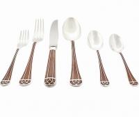 "Christofle ""Talisman"" Box Cutlery Flatware Sienna 112 pièce"