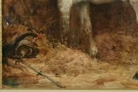 Eugène-Louis Lami (1800-1890 ) - Cheval du Duc de Nemours