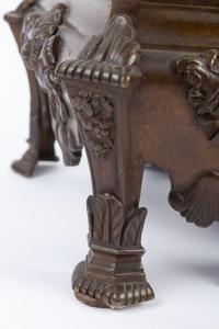 Paire de chenets aux sphinx 19e siècle
