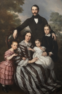 Louis Krevel (1801-1876) - Portrait de famille, d'Emil Albano Korte et de sa famille, vers 1856