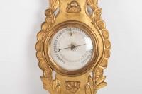 Baromètre Epoque Louis XVI En Bois Doré, 18ème Siècle