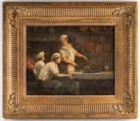 Trois cuisiniers , Ecole française, XIXème