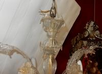 1900/20 Lustre Cristal Murano 4 Branches