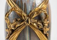 Vase de Sèvres en grès émaillé à monture en bronze doré signé KELLER