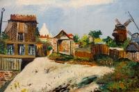 Le Moulin de la Galette, Montmartre par Elisée Maclet 1881-1962