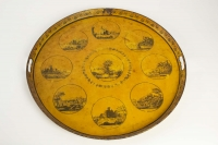 Sheet Metal Tray Directoire Tray Period Representative Of The Monuments Of The City Of Lyon