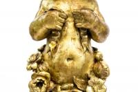 Paire de consoles représentant des putti, bois doré, fin XIXème siècle