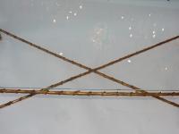 1950/70' Table Basse en Bronze Doré Décor Palmier Maison Charles 116 X 62 cm