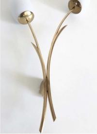 """Paire d'appliques """"Tulipe"""", Maison Arlus, 1950."""