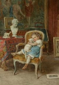 DUVERGER Theodore,Emmanuel (1821,1898) Ecole Française