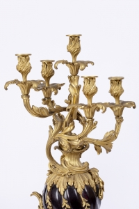 A Charming Pair Of 19th Century Louis XV St. Candelabras.