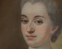Pastel 18e siècle portrait de Renée de Damian Vinsargues