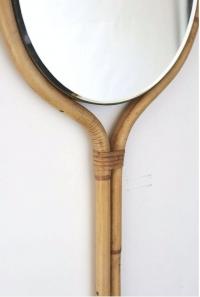 Miroir rotin Louis Sognot 1950
