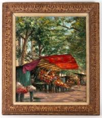 Marché aux fleurs, place de la madeleine, Charles Vasnier  (1873 - 1961), Paris