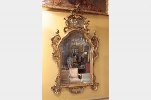Miroir Vénitien en bois doré du XVIIIème siècle